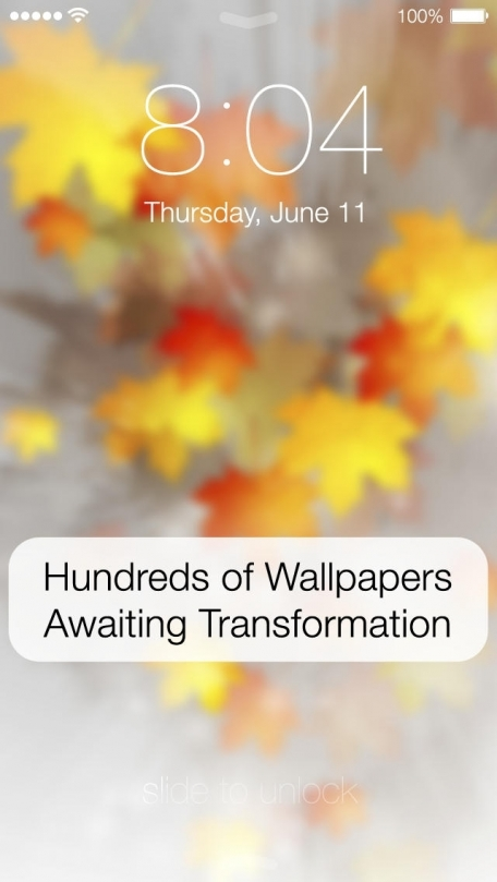 Blur Your Screen Wallpapers for iOS 7