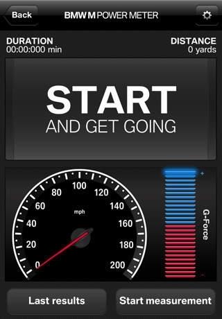 BMW M Power Meter