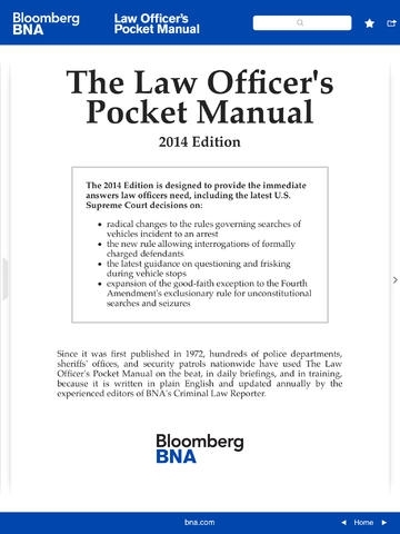 BNA Law Officer's Pocket Manual