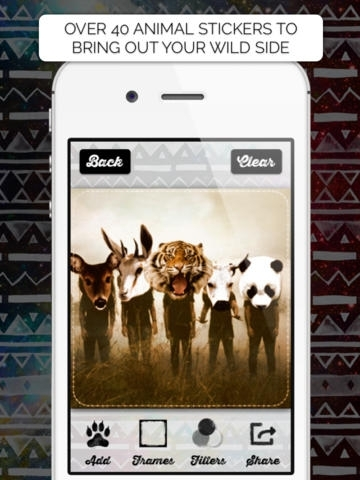Animal Face - IG Photo Editor Booth with Fun Animal Head Stickers like The Fox, Cheetah, Panda, Cat and Tiger + Awesome Frames, Cool Filters