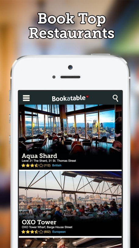 Bookatable restaurant booking, discover top restaurants, book a table for free