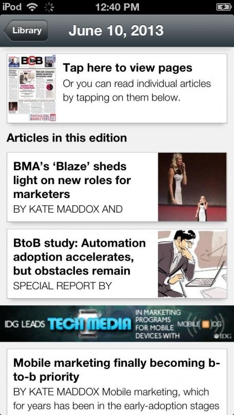'BtoB' magazine