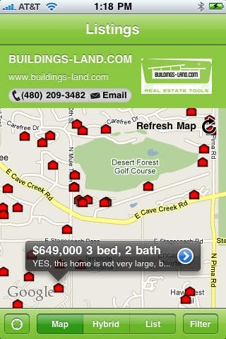 Buildings-Land.com Mobile Search
