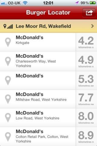 Burger Locator - Find your nearest McDonald's
