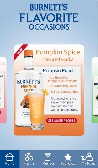 Burnett's Vodka Flavorite Occasion Recipes