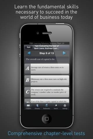 Business Math - MBA Learning Solutions for iPhone.