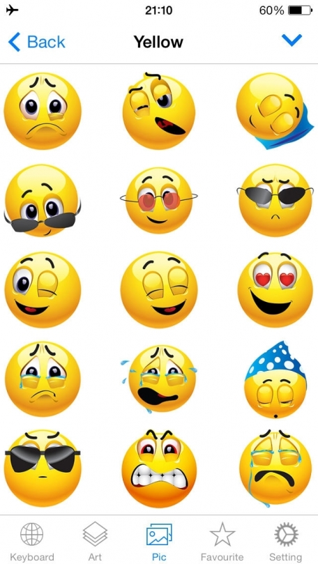 Emoji Keyboard 2 - Animated Emojis Icons Art & New Hot/Pop Emoticons Stickers For Kik,BBM, Whats.App, Facebook Messenger or Me-Not App Free
