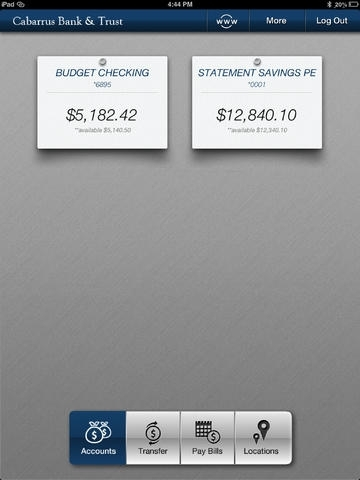 Cabarrus Bank & Trust e-zMobile Banking