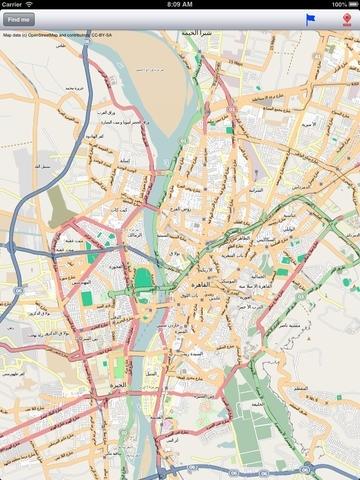 Cairo Street Map