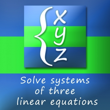 Calculator for solving systems of linear equations with three variables 3x3