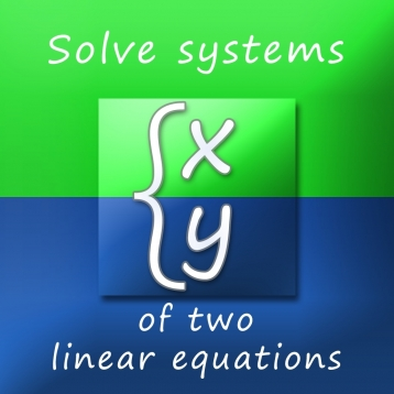 Calculator for solving systems of linear equations with two variables 2x2