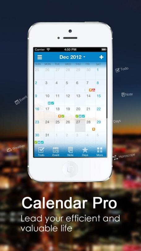 Calendar Pro-event todo birthday note weather horoscope