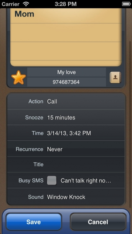 Call U Later: Call & SMS Reminder
