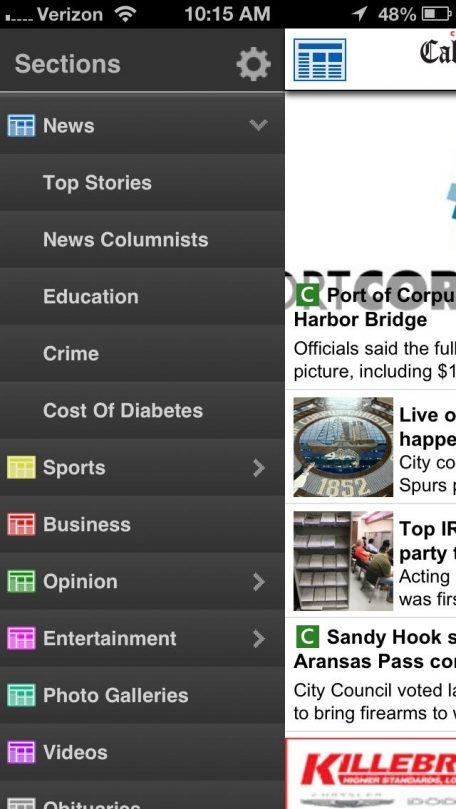 Caller-Times for iPhone  - Corpus Christi, Texas
