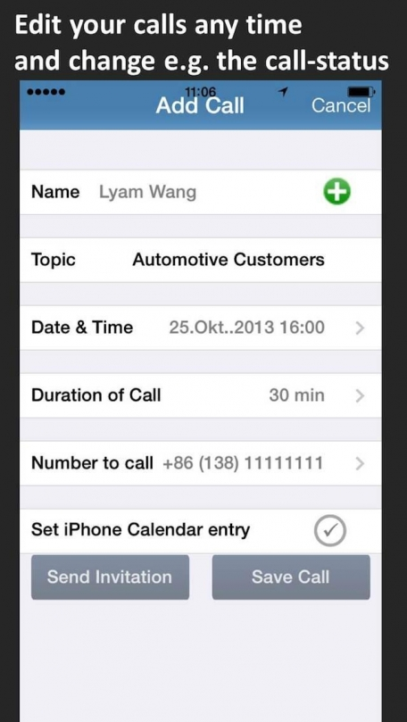 Calls2Do (with back-up to Dropbox, Evernote, eMail)
