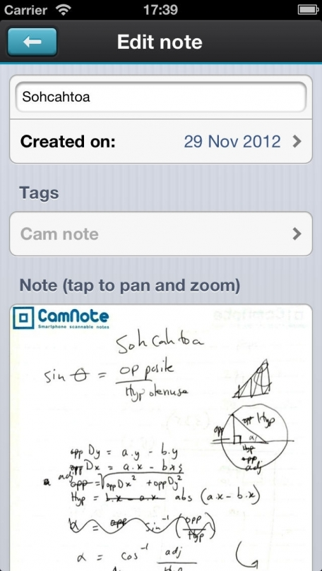 Cam note - Smartphone scannable notes