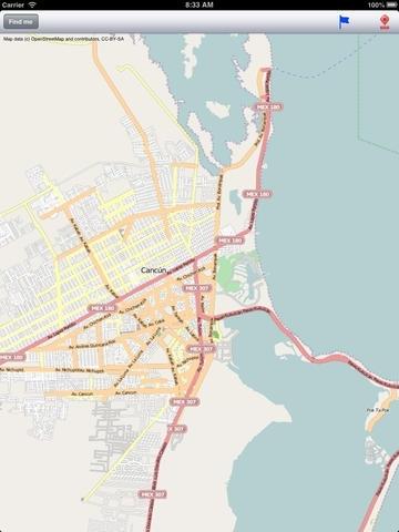 Cancun Street Map
