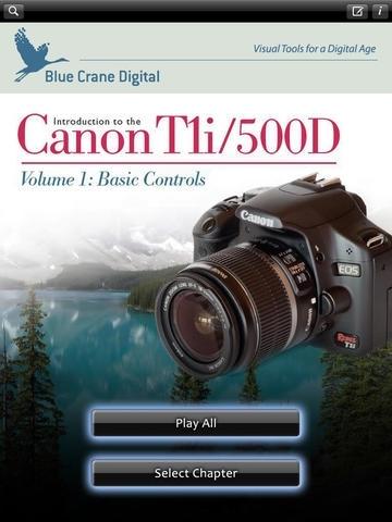 Canon T1i 500D - Basic Controls