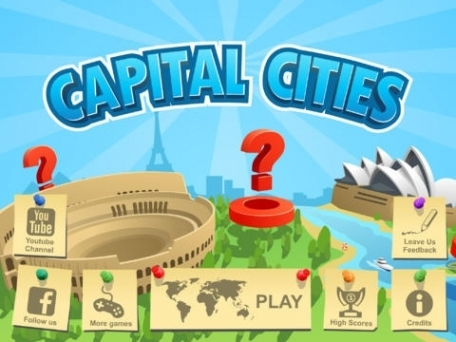 Capital Cities: memory style learning game