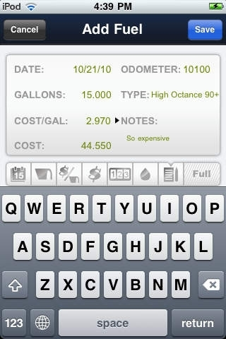 Car Log - Fuel, MPG & Maintenance