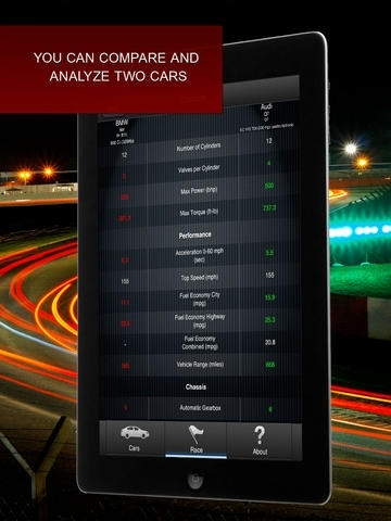 Car Racing : Compare Who's Faster
