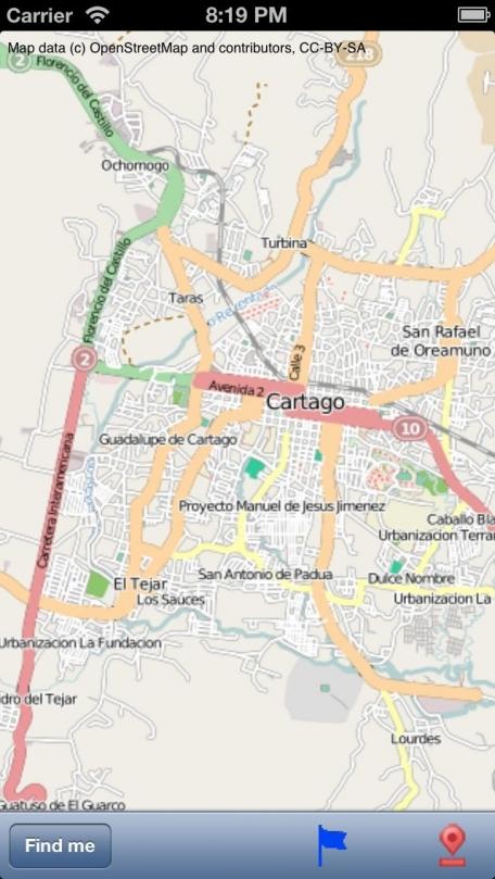 Cartago, Costa Rica, Street Map