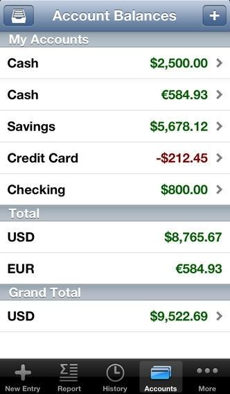 CashTrails Lite - Expenses and Income