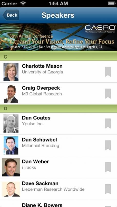 CASRO Conference Mobile Apps
