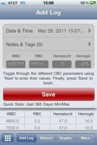 CBC Tracker (Complete Blood Count) by healthycl...