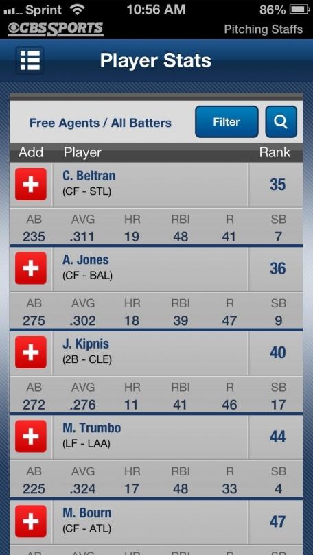 CBS Sports Fantasy Baseball