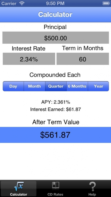 Cd Check Certificate Of Deposit Mobile Calculator Finance App