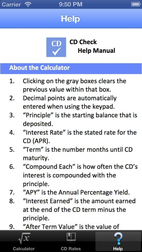 CD Check - Certificate of Deposit Mobile Calculator Finance App ...
