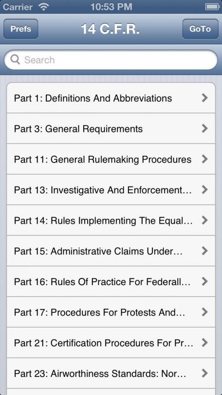 C.F.R. Title 14: Aeronautics and Space