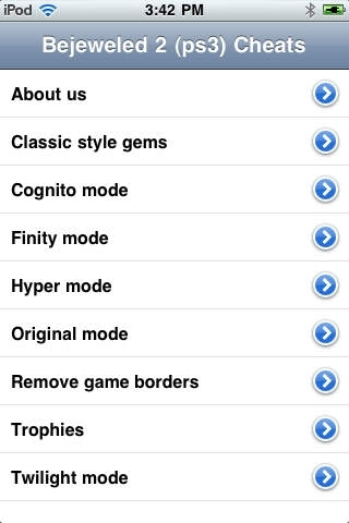 Cheats for Bejeweled 2 (ps3)