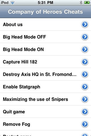Cheats for Company of Heroes