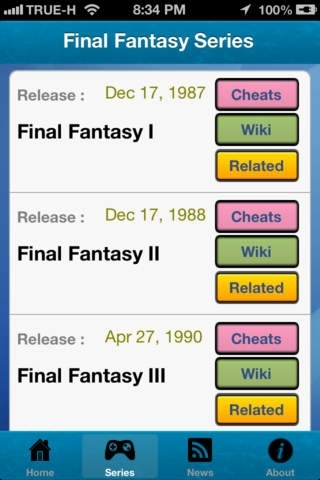 Cheats for Final Fantasy All Series and News