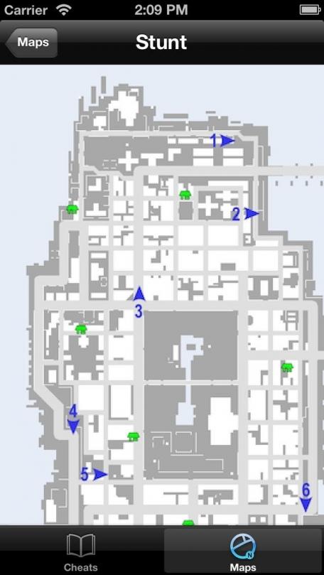 Cheats & Maps - Grand Theft Auto: Chinatown Wars