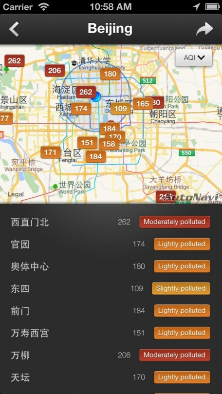 China Air Quality Index