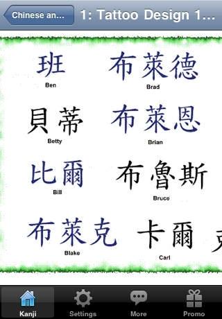 Chinese and Kanji Tattoo Designs