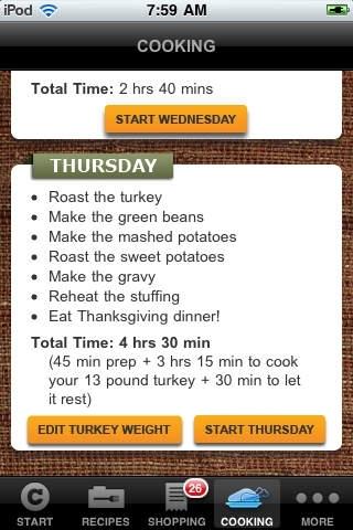 Chow Thanksgiving Dinner Coach