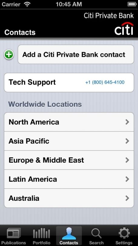 Citi Private Bank Mobile