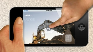 100 Diggers and Excavators. Ad-free Picture Book for Children.