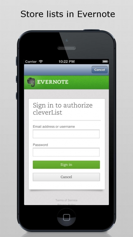 cleverList - clear, clever & cloud