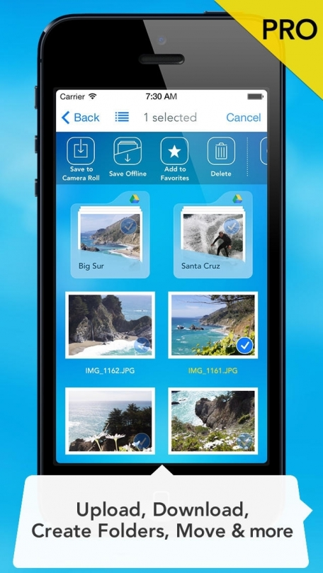 Cloud Gallery - Photo Manager for Dropbox, Google Drive, Facebook and Flickr