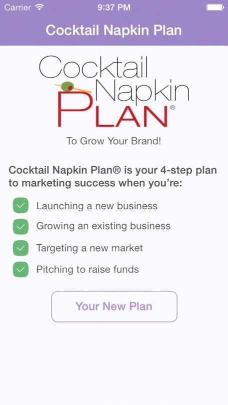 Cocktail Napkin Plan®