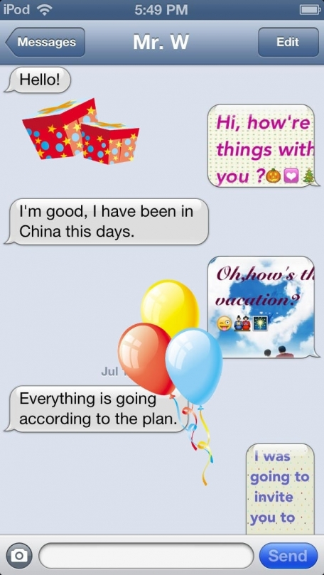 Color Text SMS Pro- Hi, What's Animated Messages!(Greeting/Love Cards-Adult Chat/Talk App)