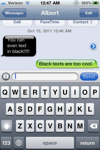 Colored Bubble Text Messages - Color Bubble