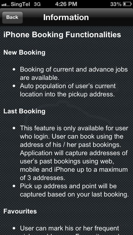 ComfortDelGro Taxi Booking.
