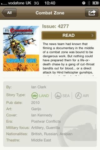 Commando Comics for iPhone