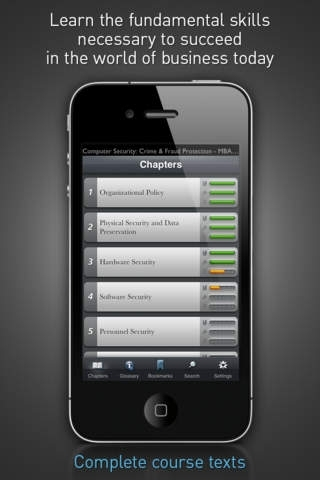 Computer Security: Crime & Fraud Protection - MBA Learning Solutions for iPhone